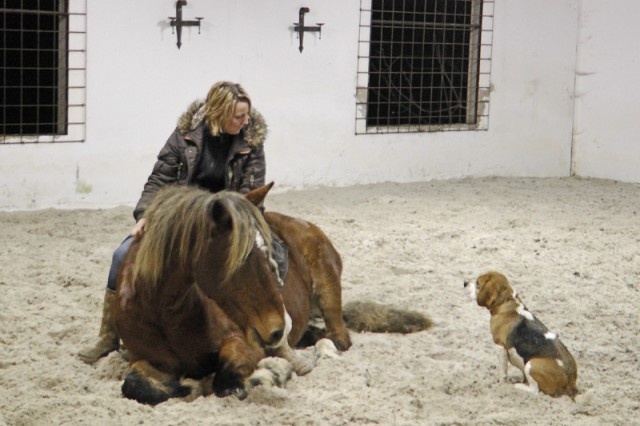 Petra, 2Moons and her dog, Summer, during the course
