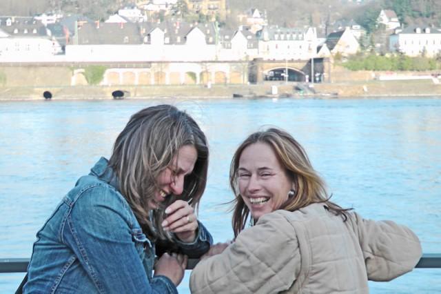 Sylvia and Vicki in Koblenz