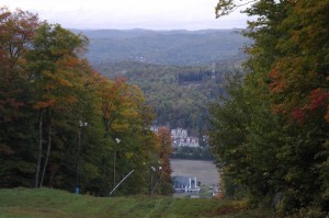 The ski resort in Saint-Sauveur