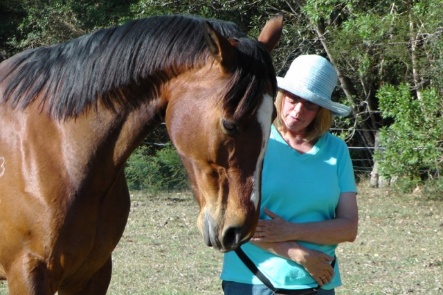 Heather and Ducati. A well-known guru who dances with horses advised her to shoot the horse.