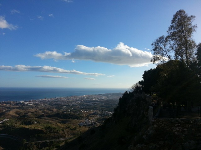 The view over the Costa del Sol from Mijas