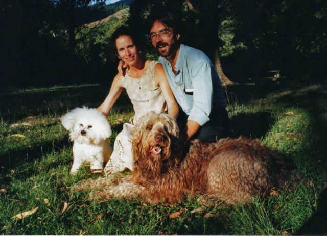 Just after our wedding together with Dubu and Smudge