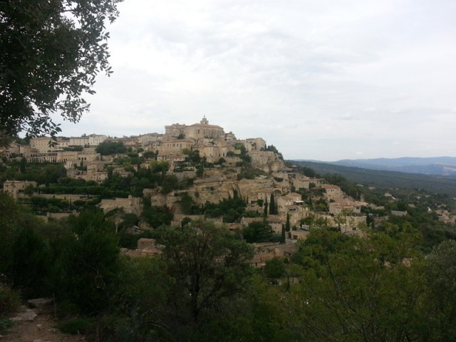 Gordes. A month in such an environment. Really tough!