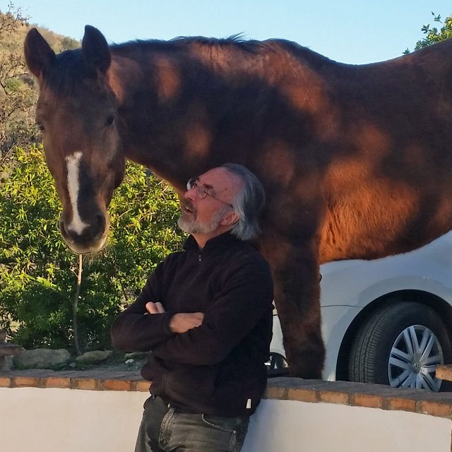 A man and his horse. A mare and her human.