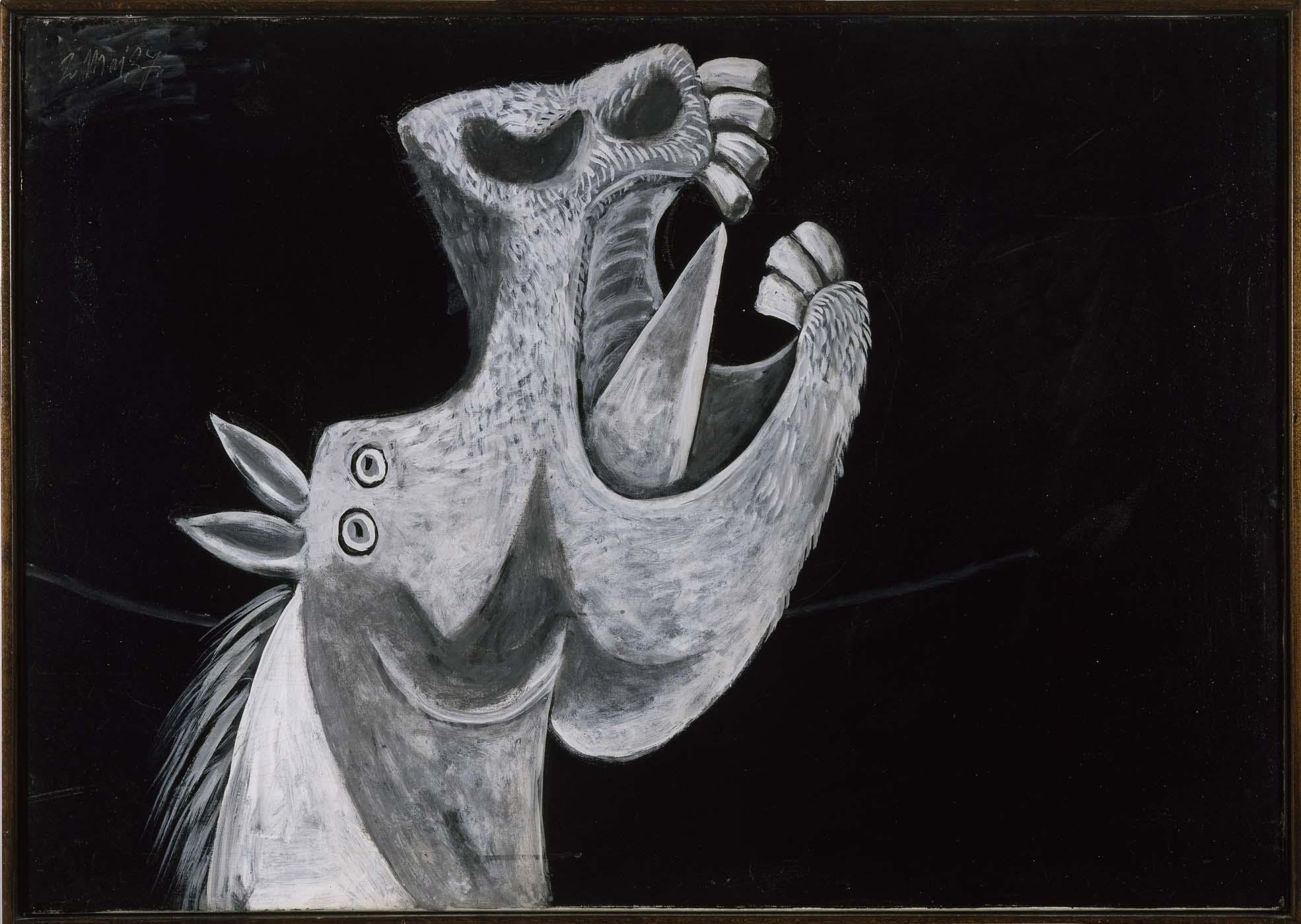 Pablo Picasso's study of a stressed horse for 'Guernica'